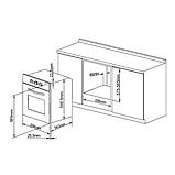 Духовой шкаф электрический PYRAMIDA F 87 EP 70 GBL, фото 2