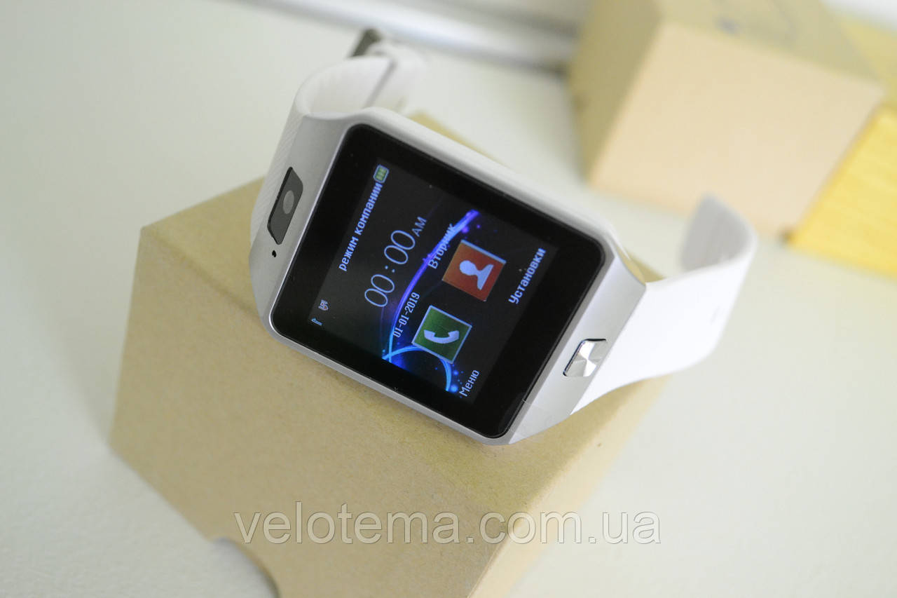 Smart часы DZ09 + камера, white