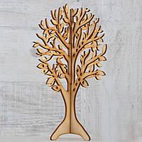 Фигура из фанеры 0.4 Подставка для украшений Дерево (двойное), 18*25см.    код: 741565