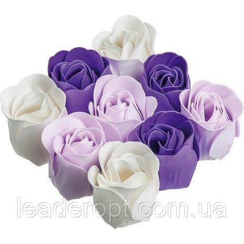 ОПТ Оптом - Подарунковий набір квіткового мила Rose Garden з 9 троянд для дівчат і жінок в коробці з бантиком