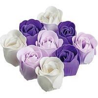 Оптом - Подарочный набор цветочного мыла Rose Garden из 9 роз для девушек и женщин в коробке с бантиком