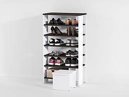 Стеллаж под обувь на 6 больших ячеек + стул из ДСП (7 ЦВЕТОВ) 600х1095х344 мм Возможны Ваши размеры