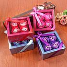 Оптом - Подарочный набор цветочного мыла Rose Garden из 9 роз для девушек и женщин в коробке с бантиком, фото 6