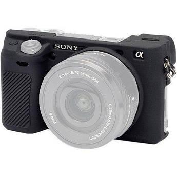 Защитный силиконовый чехол для фотоаппаратов SONY A6300, A6400 - черный
