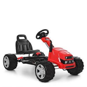 Детская педальная машинка Bambi M 4118-3 карт красный ева колеса