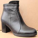 Ботинки демисезонные кожаные на каблуке от производителя модель ШБ11Д, фото 2