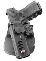 Кобура Fobus для Glock-17/19 с поясным фиксатором, замок на скобе, под левую руку