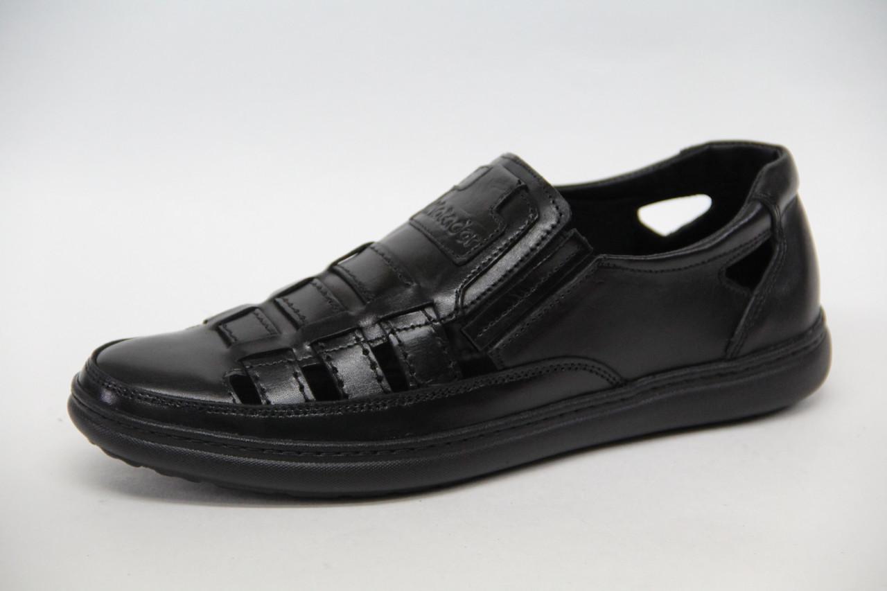 Летние мужские туфли - сандалии из натуральной кожи на липучке Matador 54
