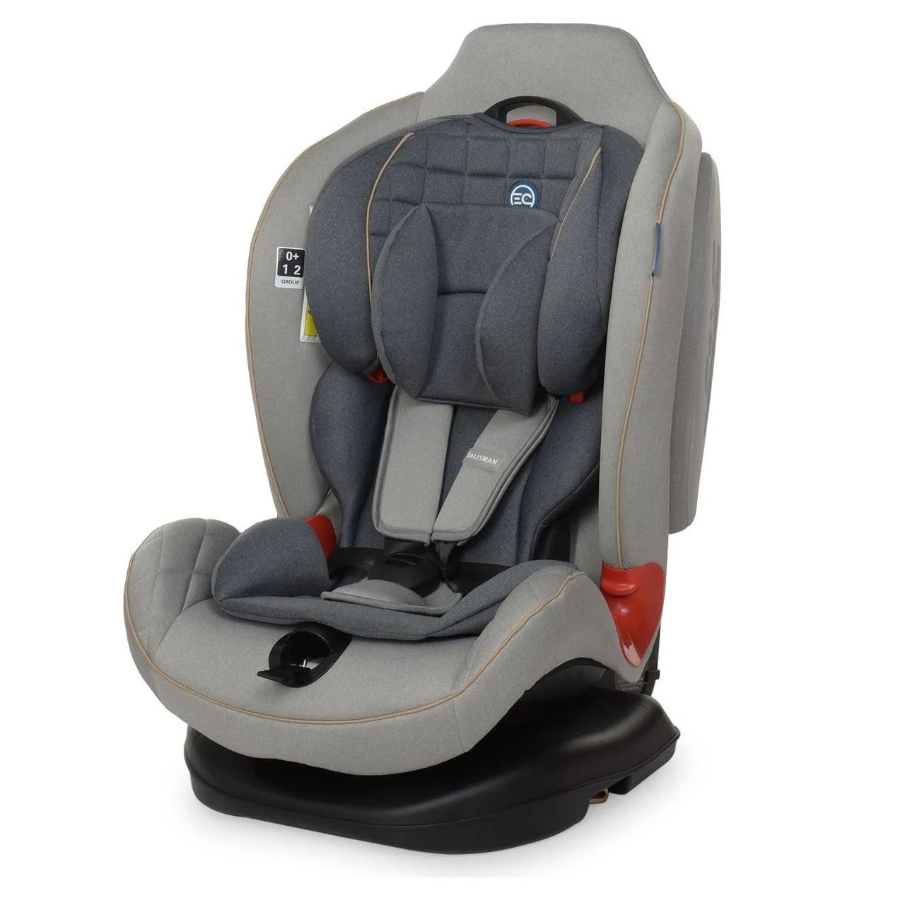 Автомобильное кресло El Camino TALISMAN ME 1065 группа 0+/1/2, 0-25 кг, Light Gray, ткань лен