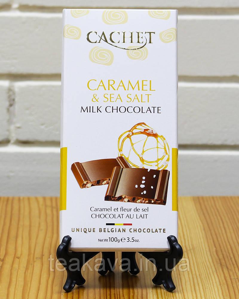 Шоколад Cachet молочный с соленой карамелью 31%, 100 г