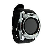 Розумні годинник Smart Watch GSM Camera V8 Silver, фото 5