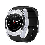 Розумні годинник Smart Watch GSM Camera V8 Silver, фото 6