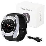 Розумні годинник Smart Watch GSM Camera V8 Silver, фото 8