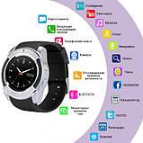 Розумні годинник Smart Watch GSM Camera V8 Silver, фото 4