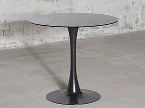 Стол стеклянный круглый черного цвета Medison (Мэдисон) Black GLOSS TD-09 Евродом, фото 2