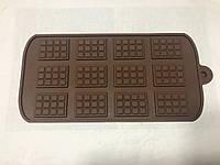 Форма силиконовая для конфет дольки шоколада