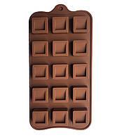 Форма силиконовая для конфет Квадрат 15 шт