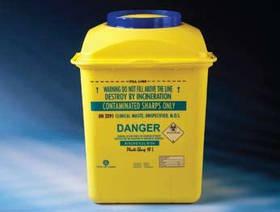 Контейнер для сбора иголок и медицинских отходов 10л
