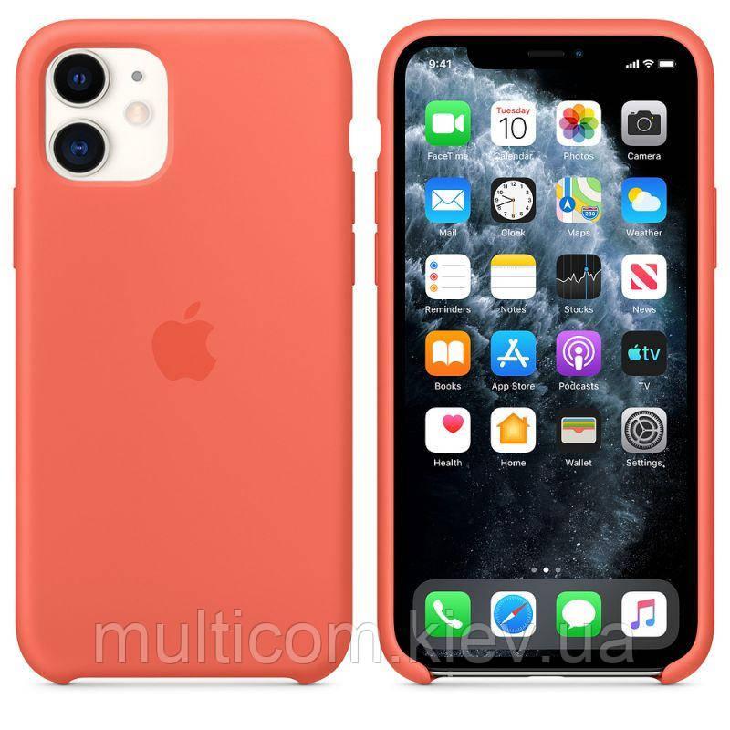Чехол Silicone Case для iPhone 11 Clementine (Orange) OEM