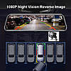 4G, ADAS Автомобільне дзеркало з вбудованим відеореєстратором Full HD 1080P, WiFi, GPS, фото 2