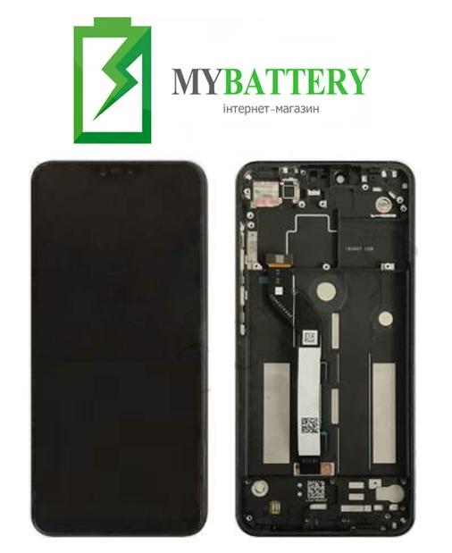 Дисплей (LCD) Xiaomi Mi8 Lite/ Mi8x с сенсором черный + рамка