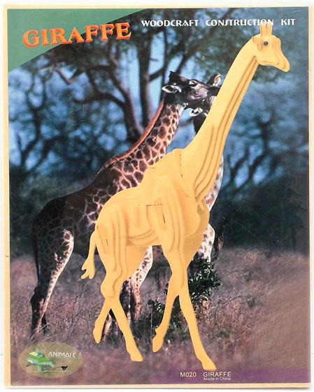Сборная деревянная 3D модель маленького жирафа