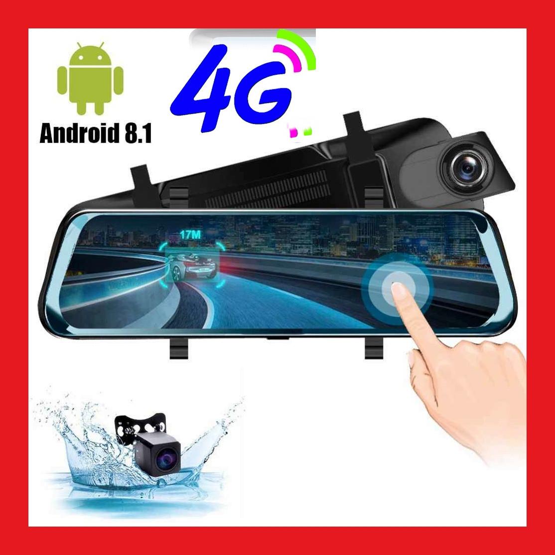 4G, ADAS Автомобільне дзеркало з вбудованим відеореєстратором Full HD 1080P, WiFi, GPS