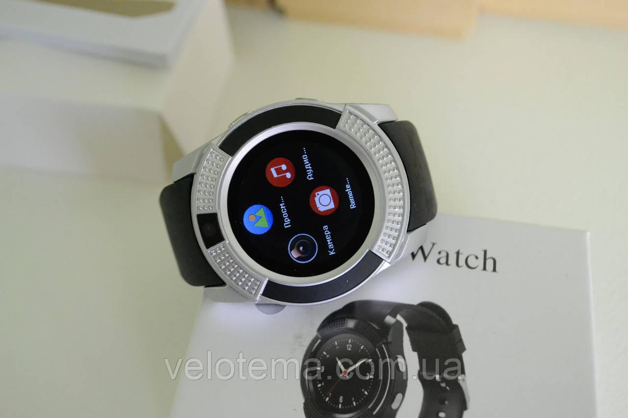Розумні годинник Smart Watch GSM Camera V8 Silver
