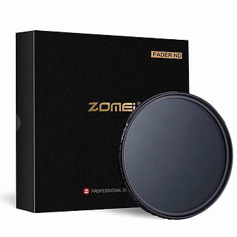 Нейтрально-серый светофильтр ZOMEI с переменной плотностью 82 мм ABS ULTRA SLIM ND2 - ND400