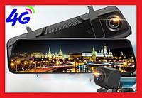 """Видеорегистратор зеркало 10 """" Tian-Su E-020 с GPS, Wi-Fi, 4G, Android 8.1, ADAS,Full HD 1080P"""