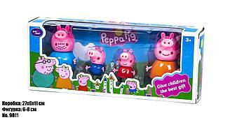 """Герої Peppa Pig PP """"Свинка Пепа"""" 9811 (96шт/2), 4шт. в наборі, в кор."""