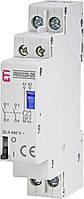 Контактор импульсный ETI RBS 220-20 20А 230V AC 2NO 2464103 (бистабильное реле, на din-рейку)