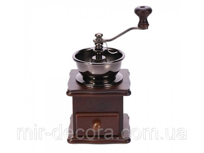 Кофемолка деревянная с ящичком