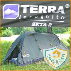 Палатка двухместная с тамбуром Terra Incognita Zeta 2