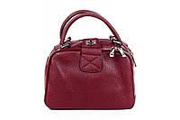 Итальянская женская сумка из натуральной кожи. Цвет: Марсала, фото 1