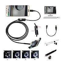 2 в 1 Эндоскоп, бороскоп с мини-камерой для Android и ПК 1.5 м 6 LED подсветка, фото 1