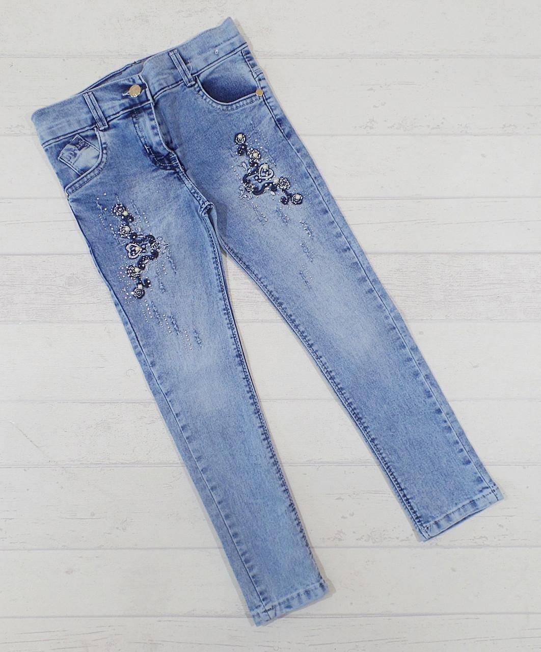 Детские джинсы для девочек 8,9,10,11,12 лет 5489612731747