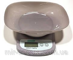 Весы кухонные с чашей 5 кг шаг 0,5 грамм