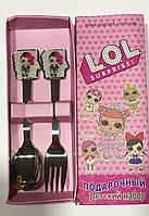 Набор детских столовых приборов ложка и вилка LOL