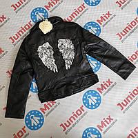 Куртка весенняя на девочку из кожзама  оптом Kids star, фото 1
