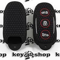 Чехол (черный, силиконовый) для смарт ключа Tesla (Тесла) 3 кнопки