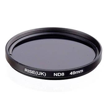 Нейтрально-серый светофильтр RISE (UK) 49 мм ND8