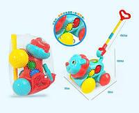 Каталка А 0371 (84) 2 цвета, пищалка, в кульке