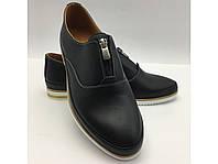 Чёрные кожаные туфли комфортные .Турция, фото 1