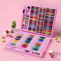 Акция! Детский набор для рисования Art set 150 предметов Розовый кейс (3+)