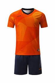 Футбольная форма Europaw 027 оранжевая-т.синяя