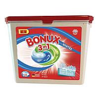 Гель-капсулы для стирки Caps Dalli BONUX Polar Ice Fresh для белого белья, 22 шт
