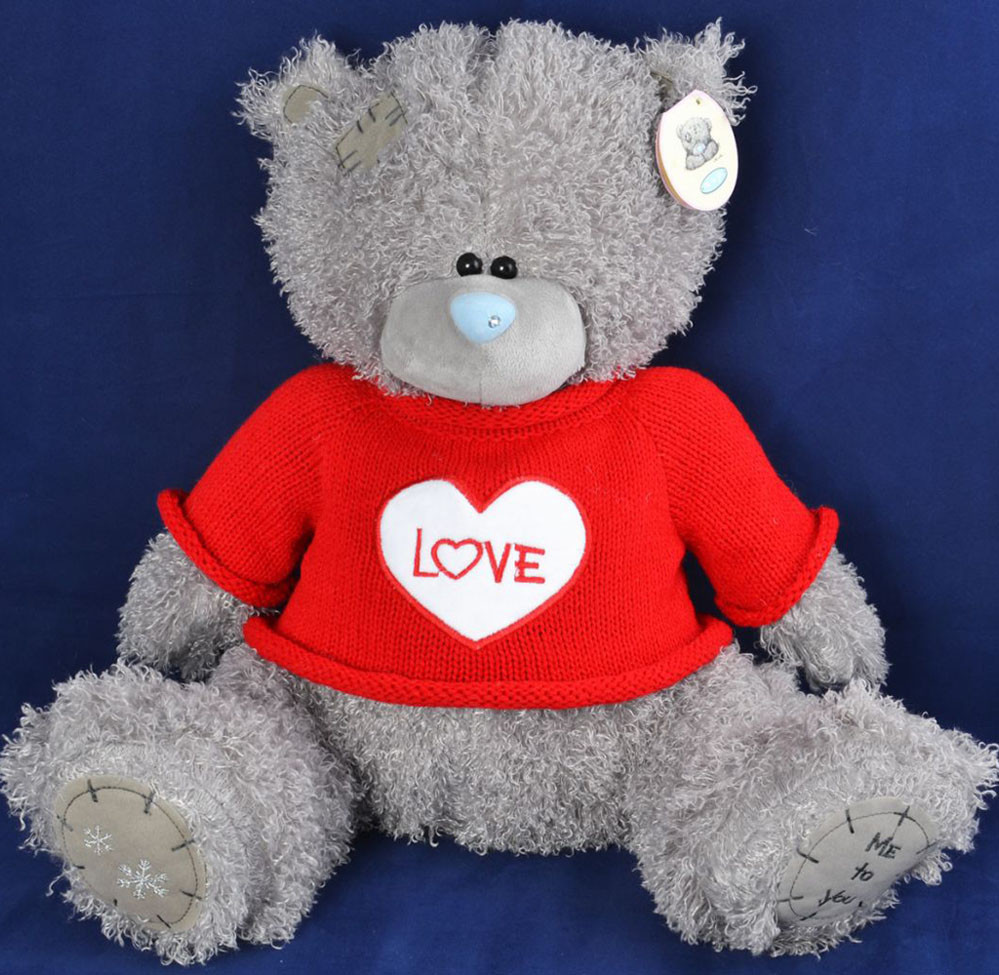 Мягкая игрушка Медведь Тедди в кофте 1565-22