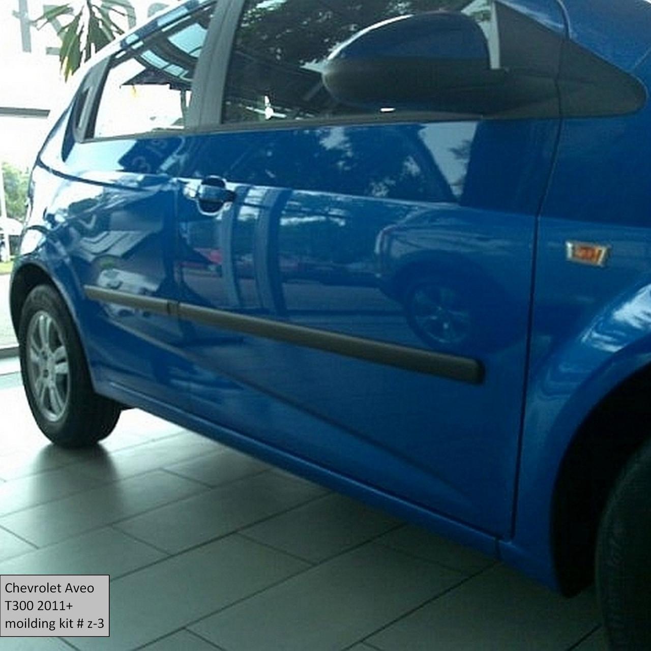 Молдинги на двери для Сhevrolet Aveo T300 5dr 2011+