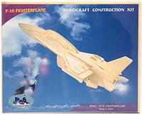 Сборная 3D модель самолёта F-16 (3 пластины)